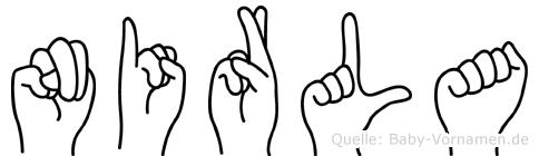 Nirla in Fingersprache für Gehörlose