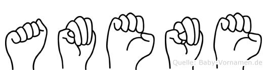 Amene in Fingersprache für Gehörlose
