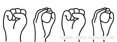 Soso im Fingeralphabet der Deutschen Gebärdensprache