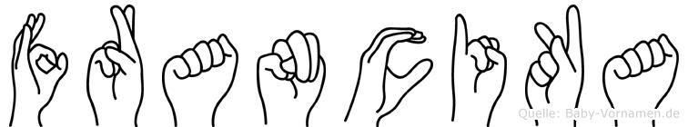 Francika in Fingersprache für Gehörlose