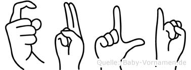 Xuli in Fingersprache für Gehörlose