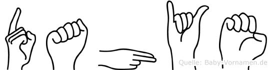 Dahye in Fingersprache für Gehörlose
