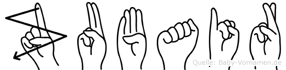 Zubair in Fingersprache für Gehörlose