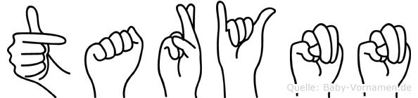Tarynn im Fingeralphabet der Deutschen Gebärdensprache