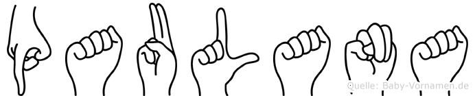 Paulana in Fingersprache für Gehörlose