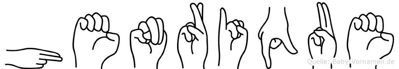 Henrique im Fingeralphabet der Deutschen Gebärdensprache