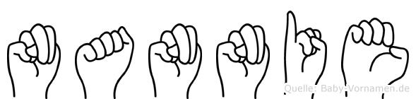 Nannie in Fingersprache für Gehörlose