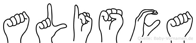 Alisca in Fingersprache für Gehörlose