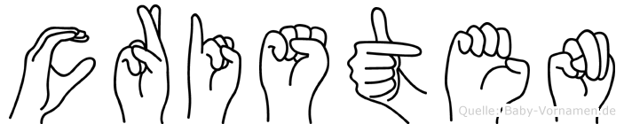 Cristen in Fingersprache für Gehörlose