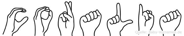 Coralia in Fingersprache für Gehörlose