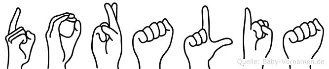 Doralia in Fingersprache für Gehörlose