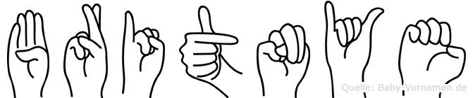 Britnye im Fingeralphabet der Deutschen Gebärdensprache