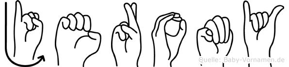 Jeromy in Fingersprache für Gehörlose