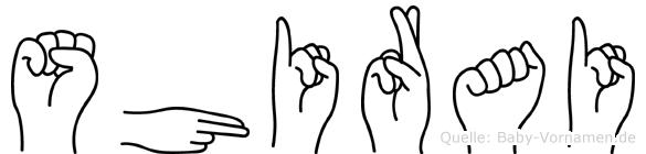 Shirai in Fingersprache für Gehörlose