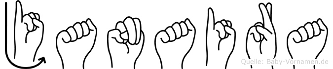 Janaira in Fingersprache für Gehörlose