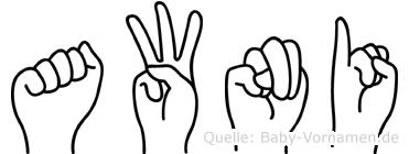 Awni im Fingeralphabet der Deutschen Gebärdensprache