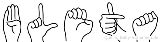 Bleta in Fingersprache für Gehörlose