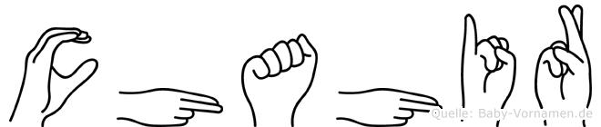 Chahir in Fingersprache für Gehörlose