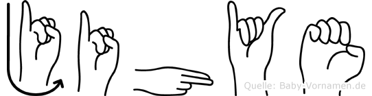 Jihye im Fingeralphabet der Deutschen Gebärdensprache