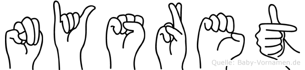 Nysret im Fingeralphabet der Deutschen Gebärdensprache