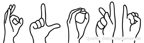 Floki im Fingeralphabet der Deutschen Gebärdensprache