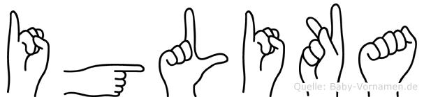 Iglika im Fingeralphabet der Deutschen Gebärdensprache