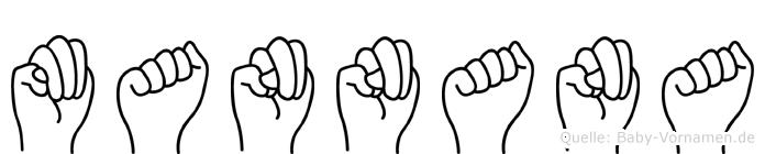 Mannana in Fingersprache für Gehörlose