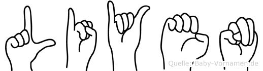 Liyen in Fingersprache für Gehörlose