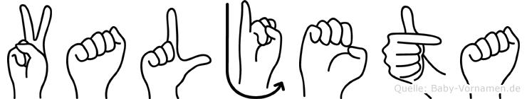 Valjeta in Fingersprache für Gehörlose