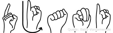 Djani in Fingersprache für Gehörlose