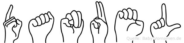 Danuel in Fingersprache für Gehörlose