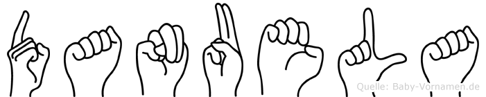 Danuela im Fingeralphabet der Deutschen Gebärdensprache