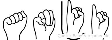 Anji in Fingersprache für Gehörlose