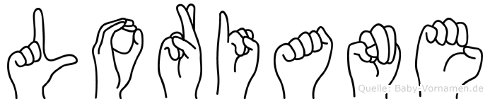 Loriane im Fingeralphabet der Deutschen Gebärdensprache