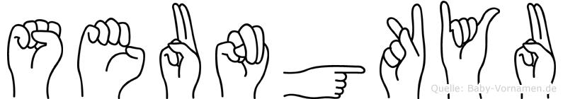 Seungkyu in Fingersprache für Gehörlose