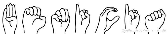 Benicia in Fingersprache für Gehörlose