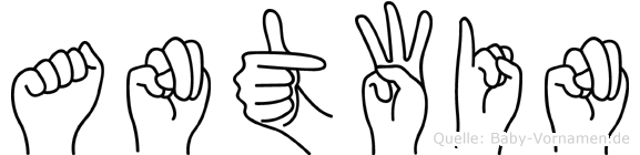 Antwin in Fingersprache für Gehörlose
