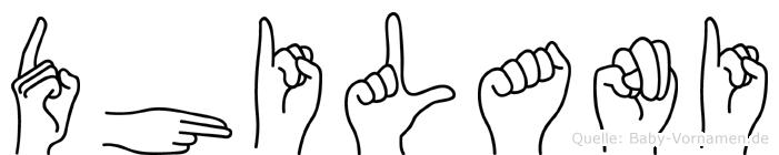 Dhilani in Fingersprache für Gehörlose