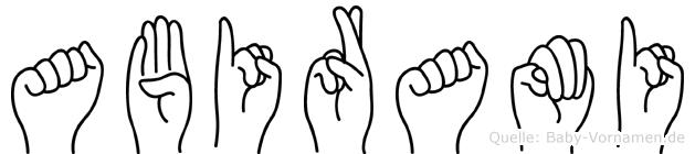 Abirami im Fingeralphabet der Deutschen Gebärdensprache