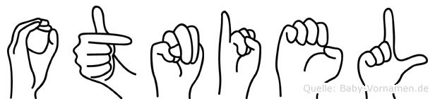 Otniel im Fingeralphabet der Deutschen Gebärdensprache