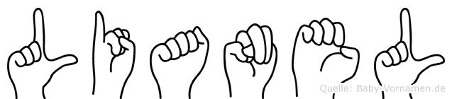 Lianel in Fingersprache für Gehörlose