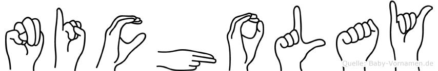 Nicholay im Fingeralphabet der Deutschen Gebärdensprache