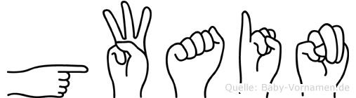 Gwain in Fingersprache für Gehörlose