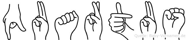 Quartus in Fingersprache für Gehörlose