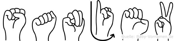 Sanjev in Fingersprache für Gehörlose