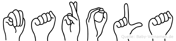 Marola in Fingersprache für Gehörlose