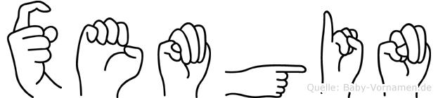 Xemgin in Fingersprache für Gehörlose