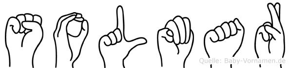 Solmar im Fingeralphabet der Deutschen Gebärdensprache