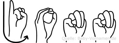 Jonn in Fingersprache für Gehörlose