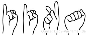 Iika in Fingersprache für Gehörlose